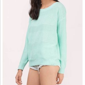PARK LANE MINT KNITTED SWEATER